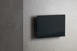 Ventilatie rooster rechthoekig zwart glas met magneten