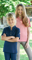 Kinder Poloshirt // Covalliero F/S21 Kollektion