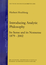 Hochberg Herbert, Introducing Analytic Philosophy