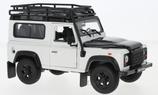 Art.Nr. 16.487 Land Rover Defender weiss Schwarz mit Dachträger