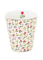 Krasilnikoff Mug Mille Fleurs white