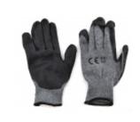 Anit-Rutsch Handschuhe PU+F Schwarz/Grau
