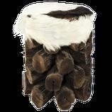 Holz-Ziegenleder Hocker