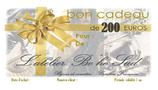 Bon cadeau de 200 euros Par courrier
