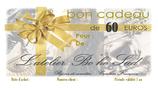 Bon cadeau de 60 euros par courrier