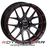 BREYTON RACE GTS-R MATT BLACK RED CIRCLE | 17 - 18 ZOLL | AB 269,00 EURO PRO STÜCK