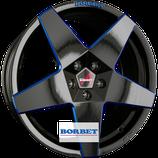 BORBET NEW A - ALUFELGE GLOSSY BLACK BLUE  | 18 - 19 ZOLL | AB 225,00 EURO PRO STÜCK