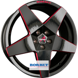 BORBET NEW A - ALUFELGE GLOSSY BLACK RED  | 18 - 19 ZOLL | AB 225,00 EURO PRO STÜCK