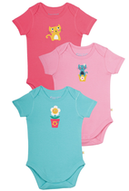 Lot de 3 body Frugi