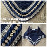 "Nr. 29: Fliegenmütze Modell ""Classic Dressage Swarovski®"" navy (marine)"
