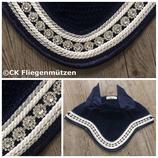 """Nr. 65: Fliegenmütze Modell """"Classic Dressage"""" + Satinrand marine (navy)"""