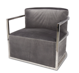 FIOCCHI Arm Chair Mid Grey Velvet