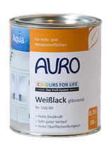 Auro COLOURS FOR LIFE Weißlack, glänzend Nr. 516-90