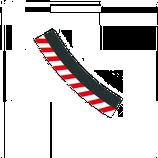 Aussenrandstreifen für Kurve 3/30° - 1 Stück
