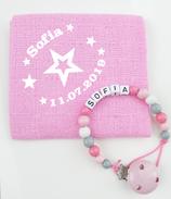 Noschi & Nuggikette Stern rosa