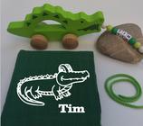 Nachziehtier Krokodil mit Noschi dunkelgrün