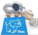Nachziehtier Elefant mit Noschi dunkelblau