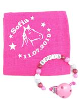 Noschi & Nuggikette Pferd pink