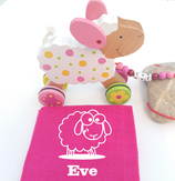 Nachziehtier Schaf mit Noschi pink