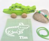 Nachziehtier Krokodil mit Noschi lindgrün