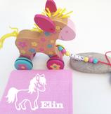Nachziehtier Pony mit Noschi rosa