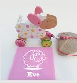 Nachziehtier Schaf mit Noschi rosa