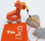 Nachziehtier Giraffe mit Noschi orange