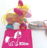 Nachziehtier Pony mit Noschi pink