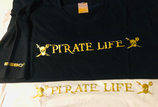 T-SHIRT 100% COTTON PIRATE LIFE BY BEBO®️ - WHITE