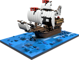 Santa Maria miniscale with ocean baseplate