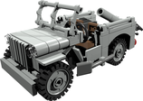 USA army Willy Jeep with fold out mortar Mörser Version