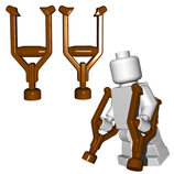 Two Crutches brown 2 braune Krücken