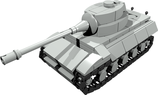 Mini scale King Tiger tank
