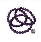 Bracelet améthyste - élastique - 1 pièce