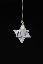 Pendule Cristal de Roche Merkaba 7 Chakra