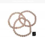 Bracelet quartz rose - élastique - 1 pièce
