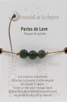 Bracelet de la chance - Perles pierre de lave