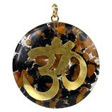 Orgone pendentif OHM tourmaline & jaspe - 4 cm avec fil