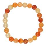 Bracelet cornaline - élastique - 1 pièce