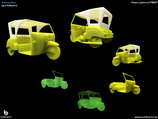 Simson Duo Skulptur aus dem 3D Drucker