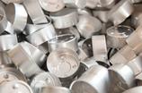 Teelichthüllen aus Aluminium in Silber Ø39 x 18mm