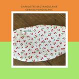 Charlotte rectangulaire cerise/fond blanc