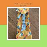 Emballage sandwich oiseaux