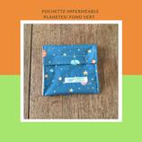 Pochette imperméable planètes/fond vert
