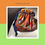 Lingettes ballons oranges