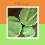 Lot de 3 charlottes vert/triangles