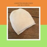 Lot de 5 lingettes double face