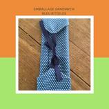 Emballage sandwich bleu/étoiles