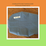 Charlotte rectangulaire étoiles/fond bleu