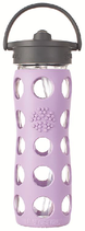 LIFEFACTORY GLASS BOTTLE -  470 ml / Straw Cap / LILAC